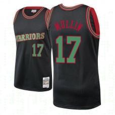 Golden State Warriors #17 Chris Mullin Hardwood Classics Christmas Jersey