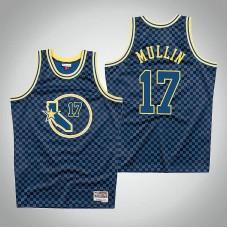 Golden State Warriors #17 Chris Mullin Royal Checkerboard Jersey