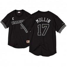 Golden State Warriors #17 Chris Mullin Black White Mesh Crew Jersey