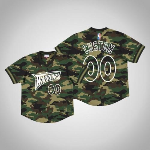 Golden State Warriors #00 Custom Camo Camo Mesh Jersey