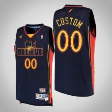 Golden State Warriors #00 Custom Navy We Believe Jersey