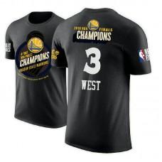 Golden State Warriors #3 David West 2018 Champions T-Shirt