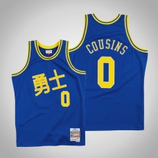 DeMarcus Cousins Golden State Warriors #0 Chinese New Year Royal Jersey