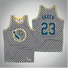 Golden State Warriors #23 Draymond Green White Checkerboard Jersey