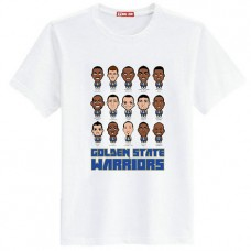 Golden State Warriors Cartoon White T-Shirt