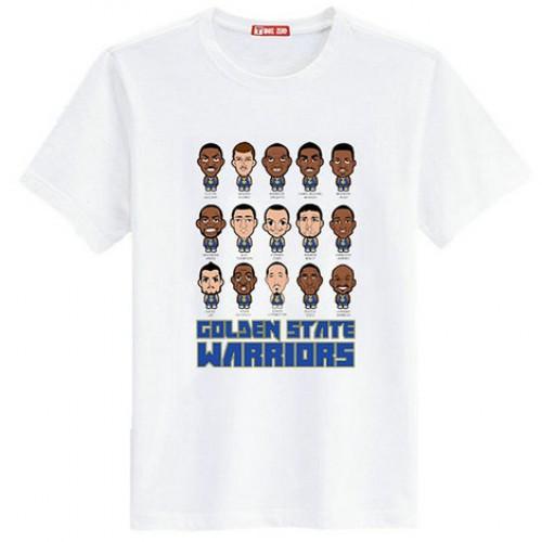 Golden State Warriors Cartoon White T-Shirt