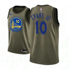 Golden State Warriors #10 Jacob Evans III Camo Military Camo Fashion Jersey