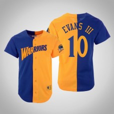 Jacob Evans III Golden State Warriors #10 Split Mesh Button Jersey