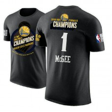 Golden State Warriors #1 JaVale McGee Black 2018 Champions T-Shirt