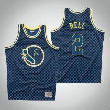 Golden State Warriors #2 Joe Barry Carroll Royal Checkerboard Jersey