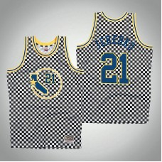 Golden State Warriors #21 Jonas Jerebko White Checkerboard Jersey