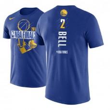 Golden State Warriors #2 Jordan Bell Royal Finals T-Shirt