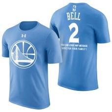 Golden State Warriors #2 Jordan Bell Blue Father's Day T-Shirt