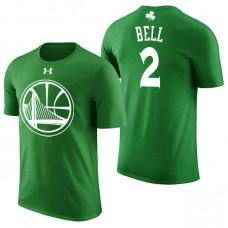 Golden State Warriors #2 Jordan Bell Green St. Patrick's Day T-Shirt