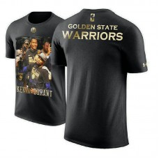Golden State Warriors #35 Kevin Durant Black Performance T-Shirt