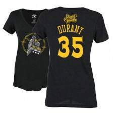 Women's Kevin Durant Golden State Warriors Black 2018 Playoffs The Town Tower T-Shirt