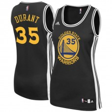 Women's Golden State Warriors #35 Kevin Durant Black Road Jersey