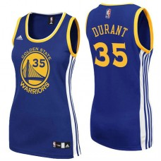Women's Golden State Warriors #35 Kevin Durant Royal Blue Road Jersey