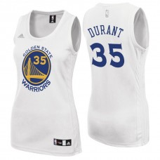 Women's Kevin Durant Golden State Warriors #35 White Jersey