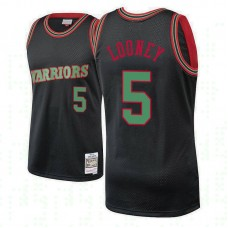 Golden State Warriors #5 Kevon Looney Black Hardwood Classics Christmas Jersey