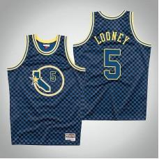 Golden State Warriors #5 Kevon Looney Checkerboard Jersey