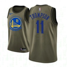 Golden State Warriors #11 Klay Thompson Camo Military Camo Fashion Jersey