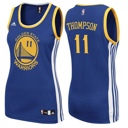 Women's Golden State Warriors #11 Klay Thompson Blue  Road Jersey
