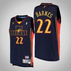 Golden State Warriors #22 Matt Barnes Navy We Believe Jersey