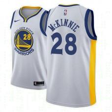 Golden State Warriors #28 Alfonzo McKinnie Association Jersey
