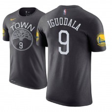Golden State Warriors #9 Andre Iguodala Gray Statement T-Shirt