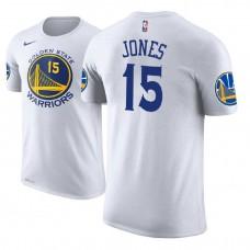 Golden State Warriors #15 Damian Jones White Association T-Shirt