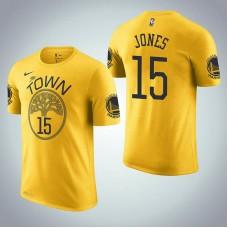 Damian Jones Golden State Warriors Earned Edition Yellow T-Shirt