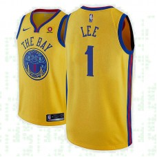 Golden State Warriors #1 Damion Lee Gold City Jersey