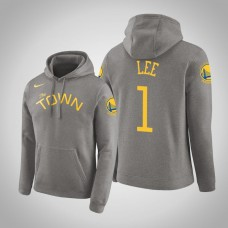 Golden State Warriors #1 Damion Lee Gray Earned Hoodie