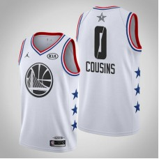 Golden State Warriors #0 DeMarcus Cousins 2019 All-Star Jersey