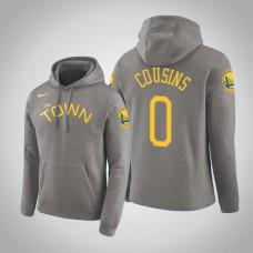 Golden State Warriors #0 DeMarcus Cousins Gray Earned Hoodie