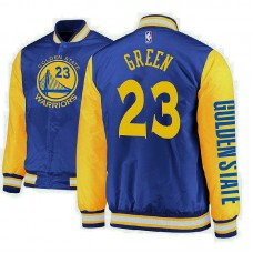 Golden State Warriors #23 Draymond Green Royal Satin Full Snap Jacket