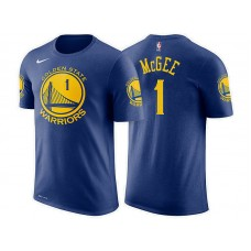 Golden State Warriors #1 JaVale McGee Blue Icon T-Shirt