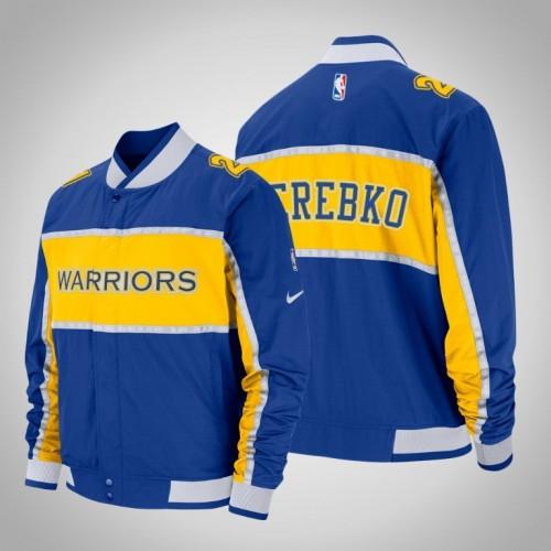 Golden State Warriors #21 Jonas Jerebko Royal Courtside Icon Jacket