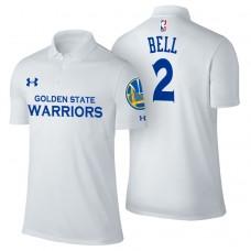 Golden State Warriors #2 Jordan Bell White Association Polo