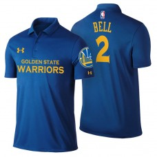 Golden State Warriors #2 Jordan Bell Royal Icon Polo