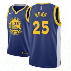 Golden State Warriors #25 Kendrick Nunn Royal Icon Jersey
