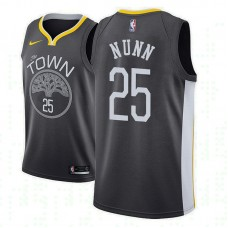 Golden State Warriors #25 Kendrick Nunn Black Statement Jersey