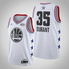 Golden State Warriors #35 Kevin Durant White 2019 All-Star Jersey