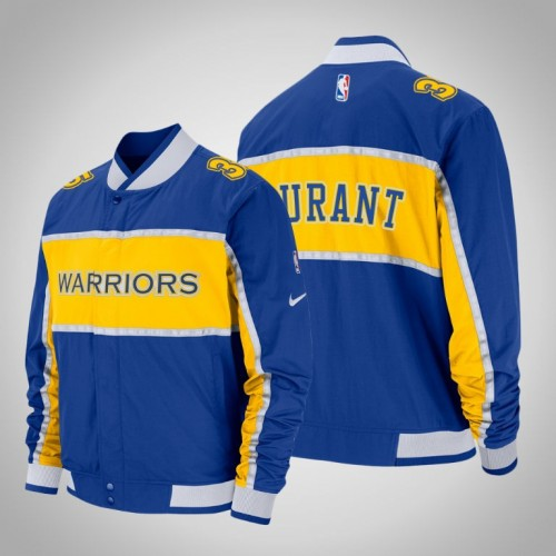 Golden State Warriors #35 Kevin Durant Courtside Icon Jacket