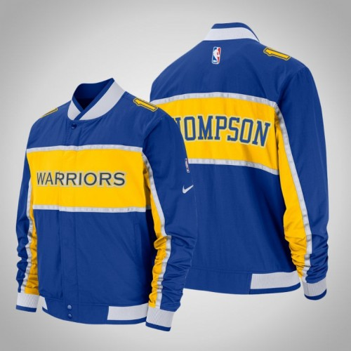Golden State Warriors #11 Klay Thompson Courtside Icon Jacket
