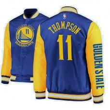 Golden State Warriors #11 Klay Thompson Satin Full Snap Jacket