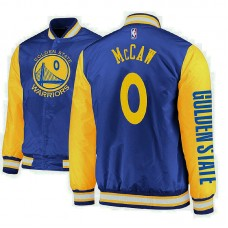 Golden State Warriors #0 Patrick McCaw Royal Satin Full Snap Jacket