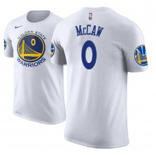 Golden State Warriors #0 Patrick McCaw White Association T-Shirt