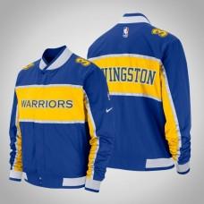 Golden State Warriors #34 Shaun Livingston Royal Courtside Icon Jacket
